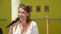 Magda Malá potěšila seniory v Domově Modrý kámen. Foto: Iveta Čermáková