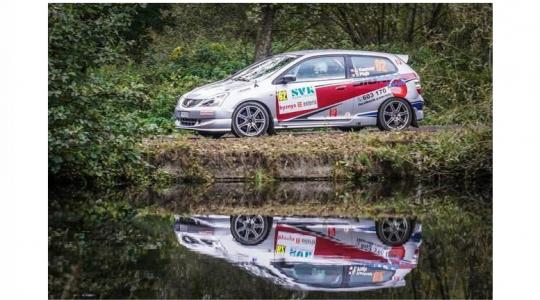 Honda Civic posádky Kastner – Morkus. Foto: archiv Jaroslava Kastnera