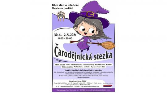 Pozvánka na čarodějnickou stezku v Mnichově Hradišti. Zdroj: Klub dětí a mládeže