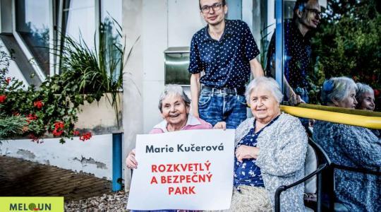 Marie Kučerová: Rozkvetlý a bezpečný park. Foto: Lucie Velichová
