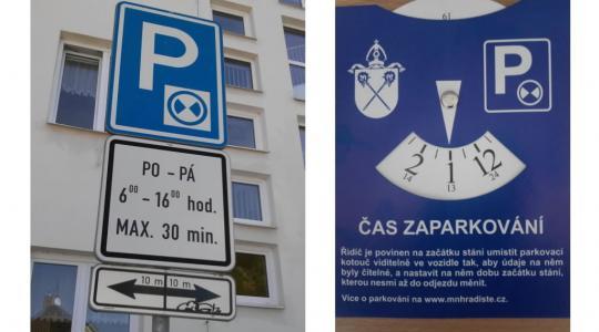 V Mírové ulici platí režim parkování s kotoučem. Foto: Městská policie Mnichovo Hradiště