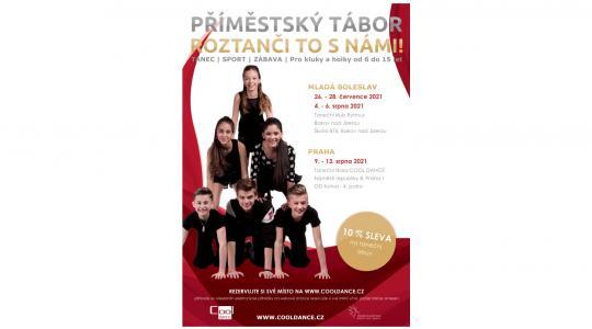 Taneční klub Rytmus Bakov nad Jizerou připravil pro děti příměstský tábor. Zdroj: TK Rytmus