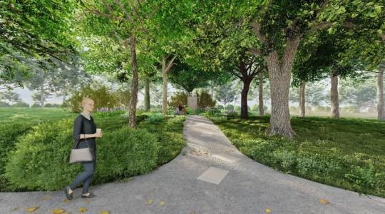 Vizualizace nové podoby židovského hřbitova v Mnichově Hradišti. Zdroj: město